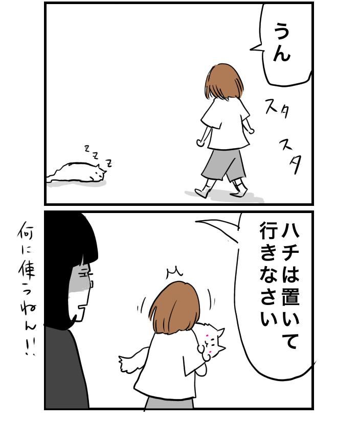 猫4コマ漫画 宿題