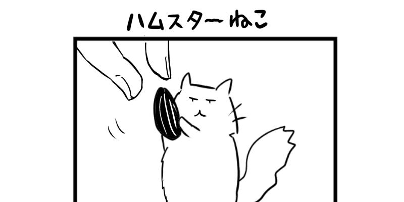 4コマ猫漫画 ハムスターねこ