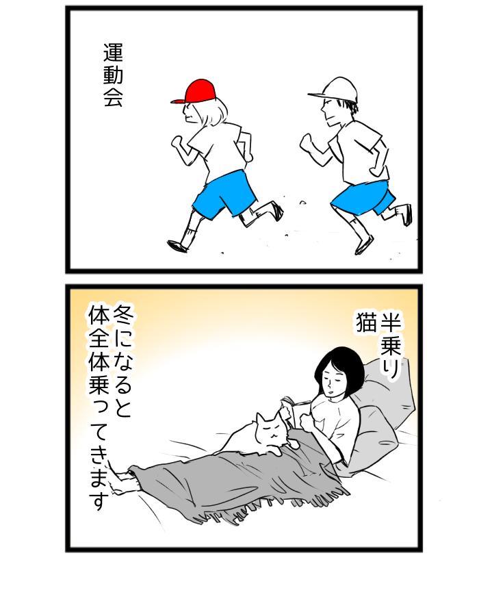 猫4コマ漫画 秋といえば