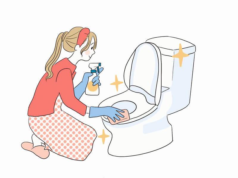トイレ掃除画像